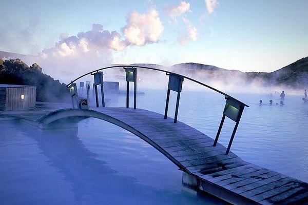 geothermal bath in Iceland