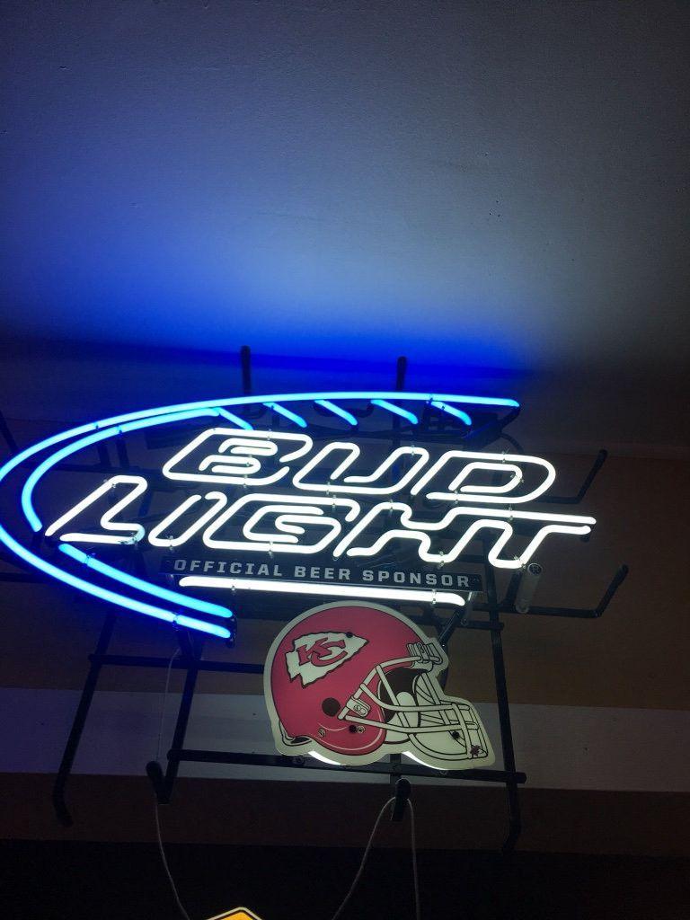 Bud Light Kansas City Chiefs Neon Sign Nfl Teams Neon Light Real