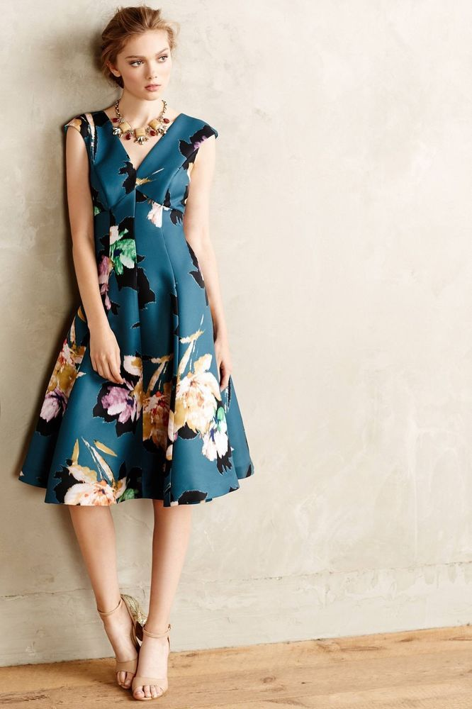 7824f188767b NEW Anthropologie Floral Baikal Dress by Moulinette Soeurs Size 0, 2, 4, 6,  8 #AnthropologieMoulinetteSoeurs