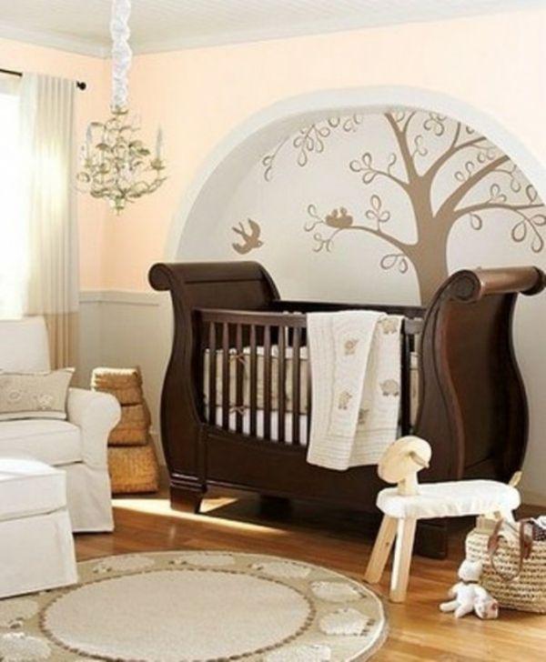luxurise babyzimmer 11 mrchenhafte designs wanddekoration zimmer baby braun bett