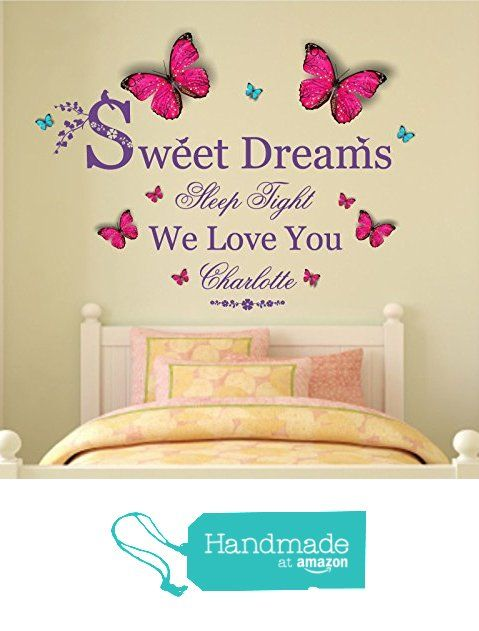 Personalised \'Sweet Dreams\' Vinyl Wall Art Sticker, Mural, Decal ...