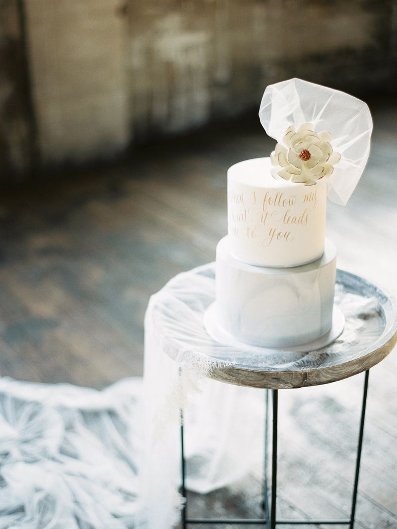 Elegant Industrial Wedding Inspiration | Industrial wedding ...