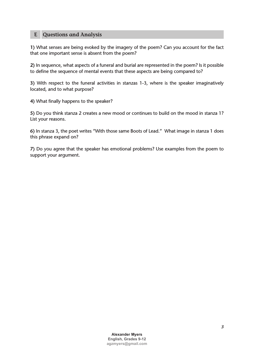 Emily Dickinson Poetry Unit Worksheet Handout Etc Succes I Counted Sweetest Line By Analysis Analysi