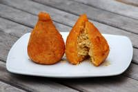 Brazilian Coxinha (a fried chicken salad street food)