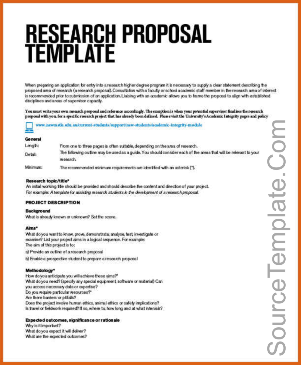 Concept Note Template For Project Proposal Example Templates Format Methodology Research Paper