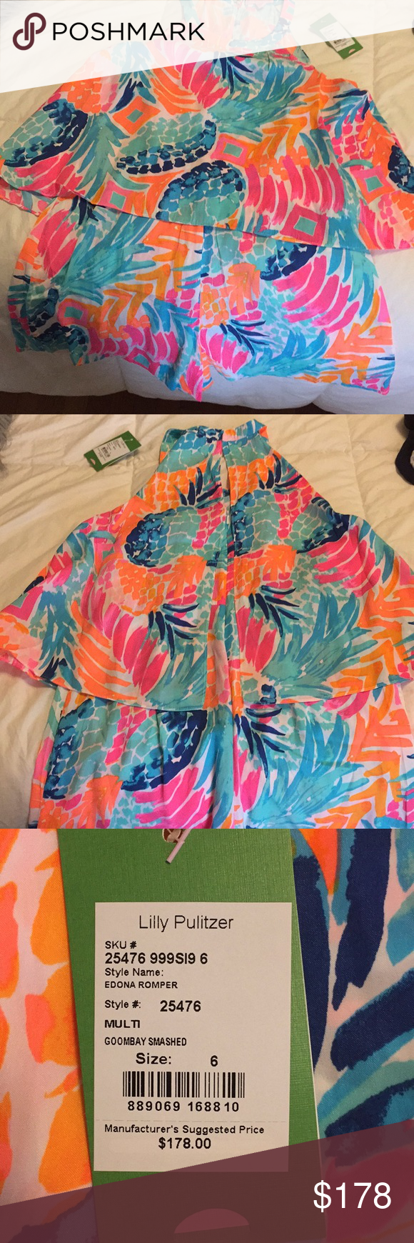 8711be972ae2 Lilly Pulitzer Romper Never been worn Lilly Romper in Goombay Smashed Lilly  Pulitzer Other