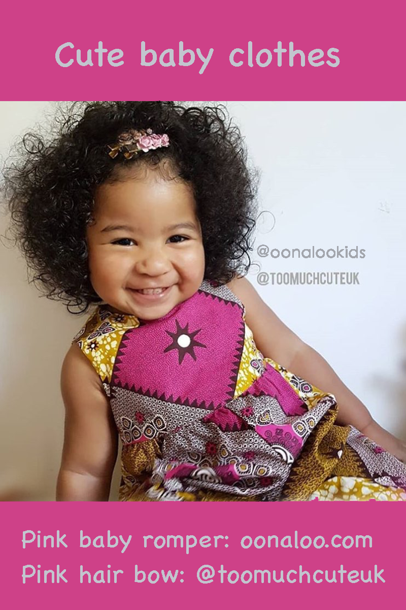 d5419a111f8e Look no further than this adorable Ankara baby romper in an unusual pink  and mustard bold patterned fabric. Discover more African kids fashion and  cute baby ...