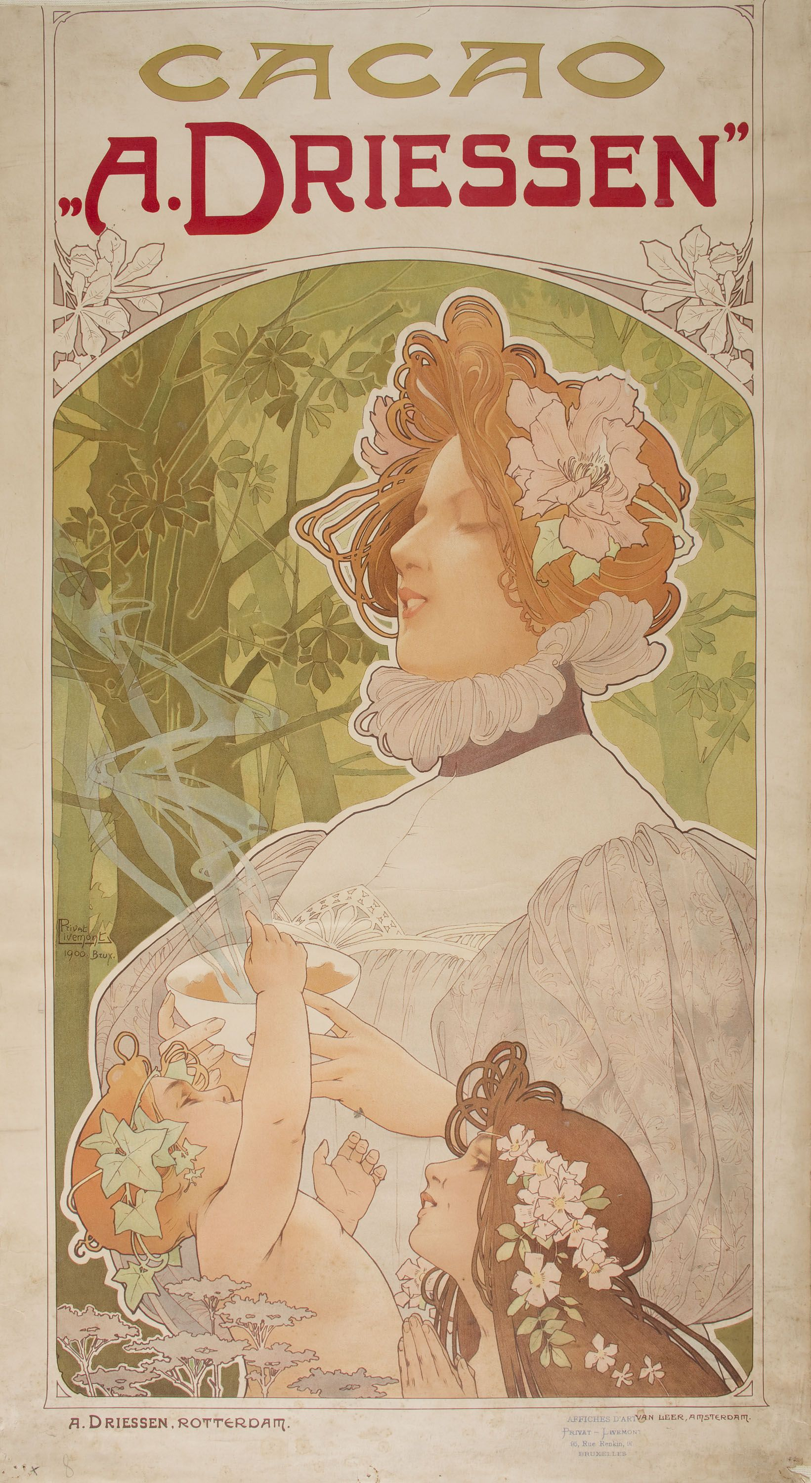 Poster design 1900 - Poster Design By Henri Privat Livemont Advertising A Driessen Cacao Ca 1900