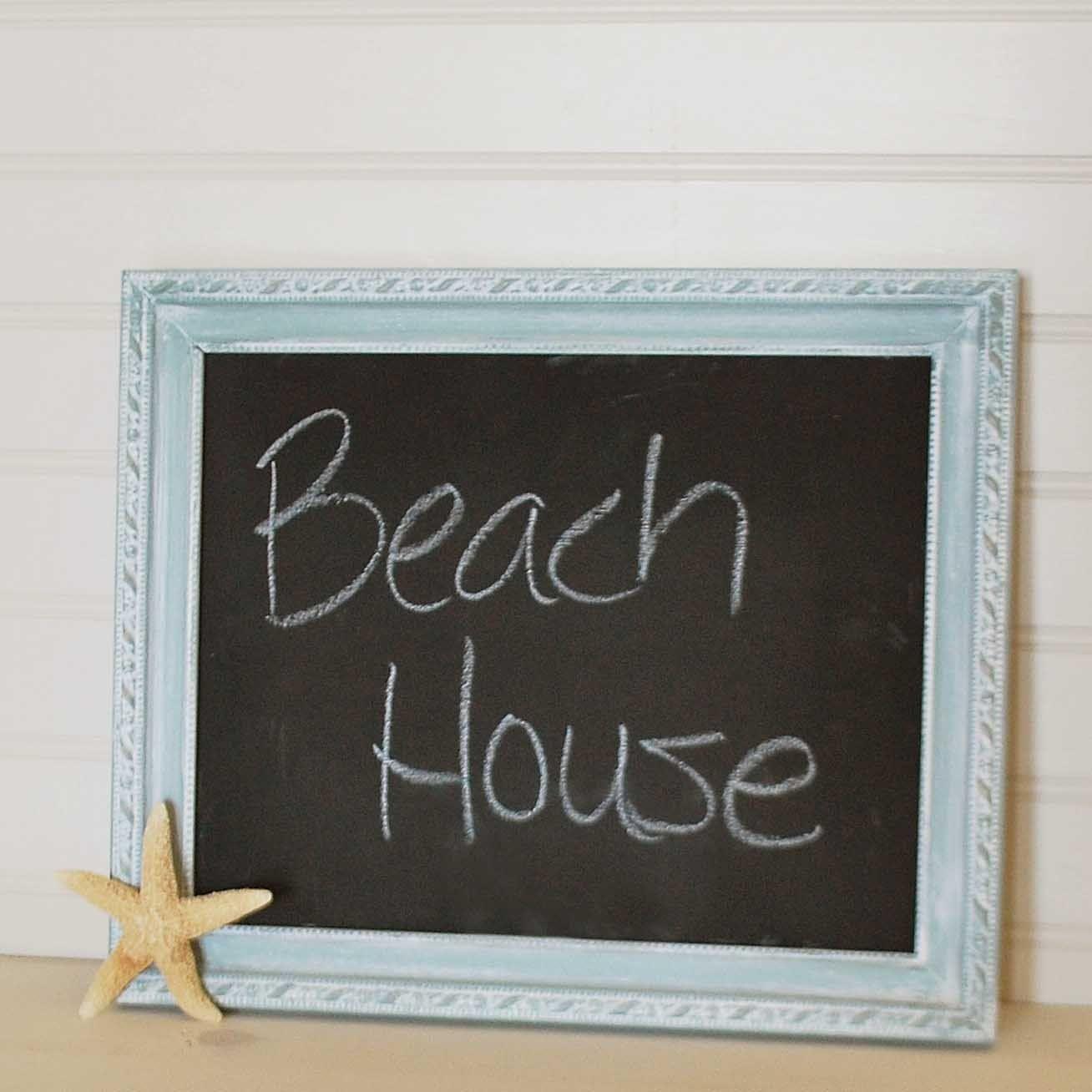 Beachy Chalkboard, seafoam, aqua, beach house. $26.00, via Etsy.