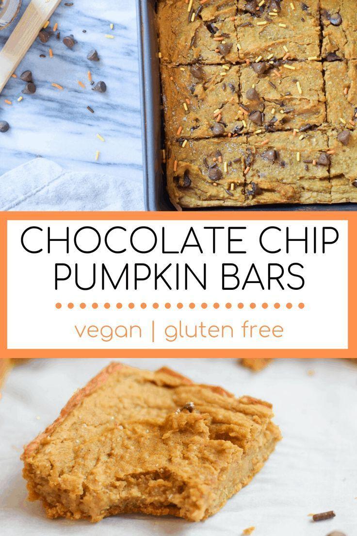 Pumpkin Chickpea Bars Recipe Vegan Pumpkin Pumpkin Recipes