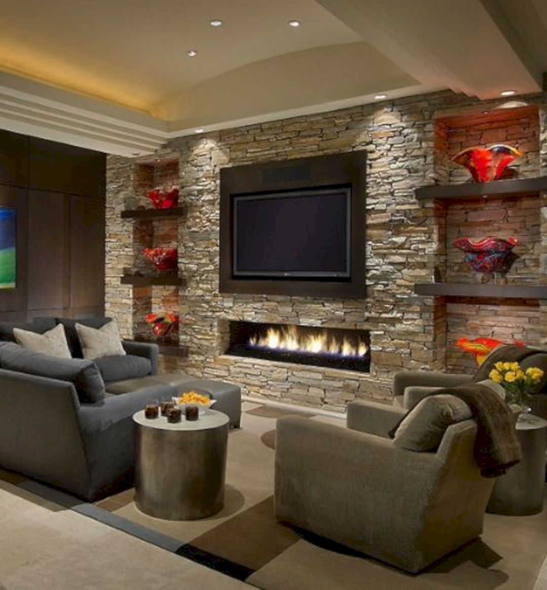 20 Fabulous Rock Wall Living Room Ideas To Amaze Your Guest