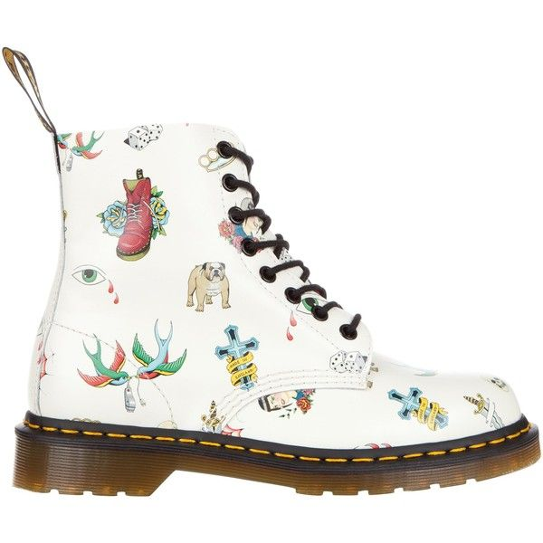 01d55c1329 Dr Martens Classic Pascal 8 Eye Boots ($59) ❤ liked on Polyvore featuring  shoes