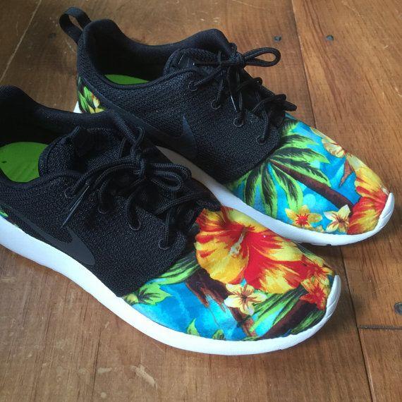 CUSTOM Nike Roshe Run Floral Mens. by PineCustoms on Etsy