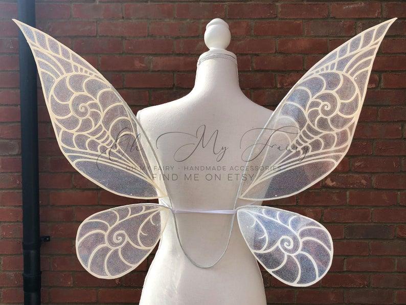 Tinkerbell Fairy Wings Cosplay Wings Costume Wings Etsy In 2021 Cosplay Wings Wings Costume Fairy Wings