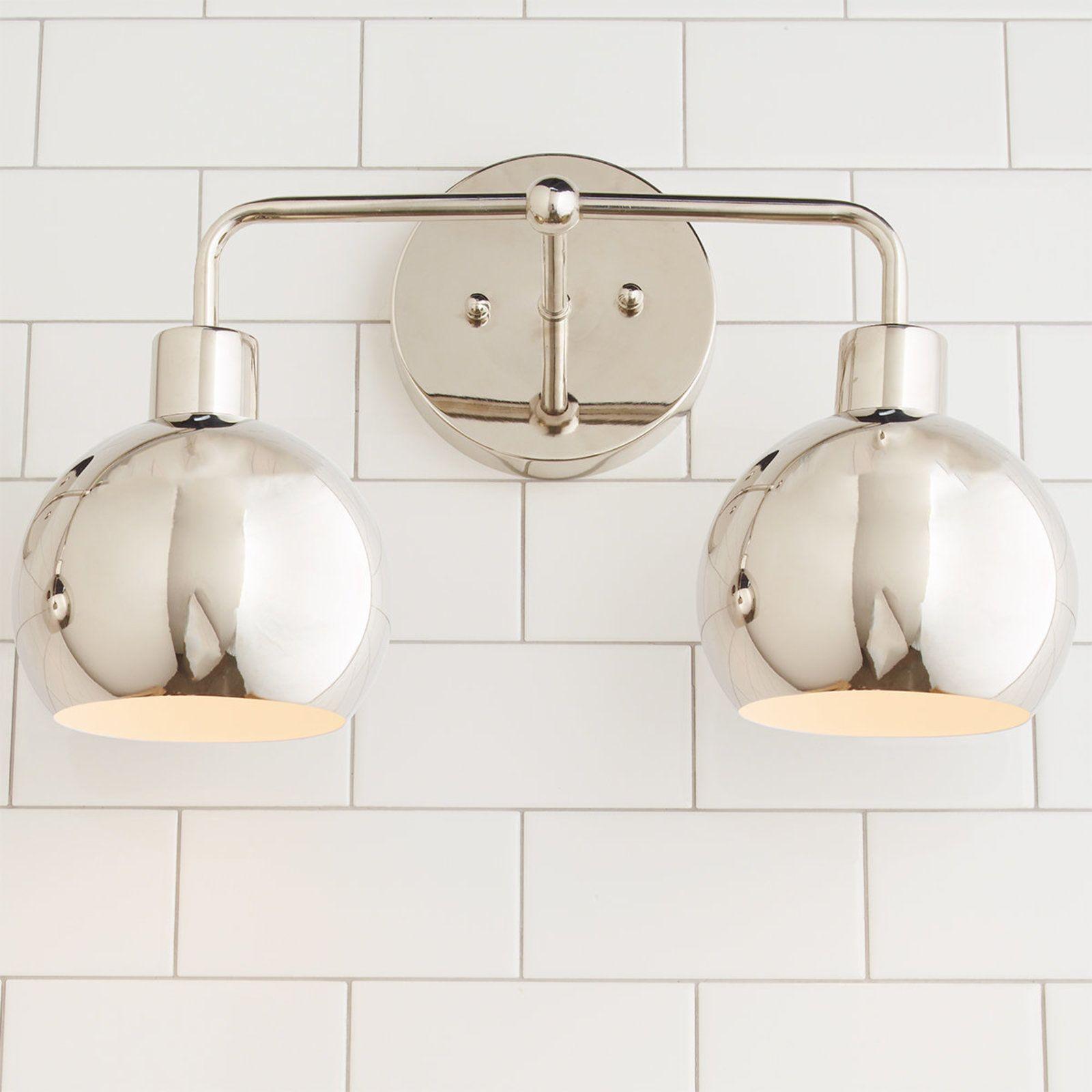 Young House Love Bubble Vanity Light 2 Light Bathroom Lighting Design Bathroom Light Fixtures Vanity Lighting