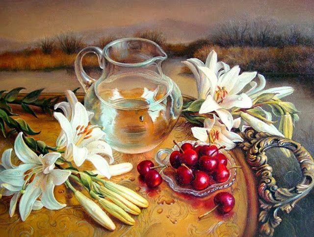 Cuadros Modernos Pinturas : Bodegones y Retratos con Flores, Maria Ilieva, Bulgaria.
