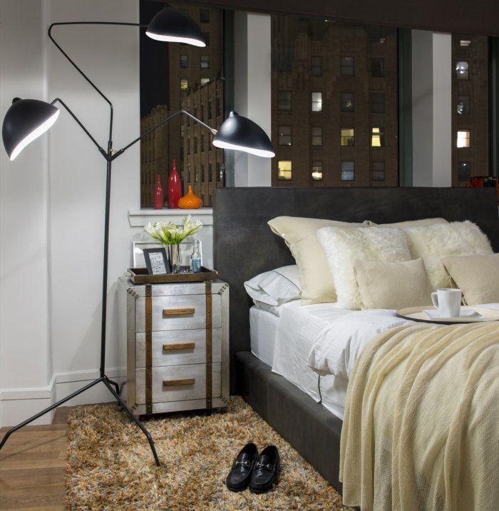 einrichtungsideen schlafzimmer mönnlich schicke bettwäsche coole - beleuchtung für schlafzimmer