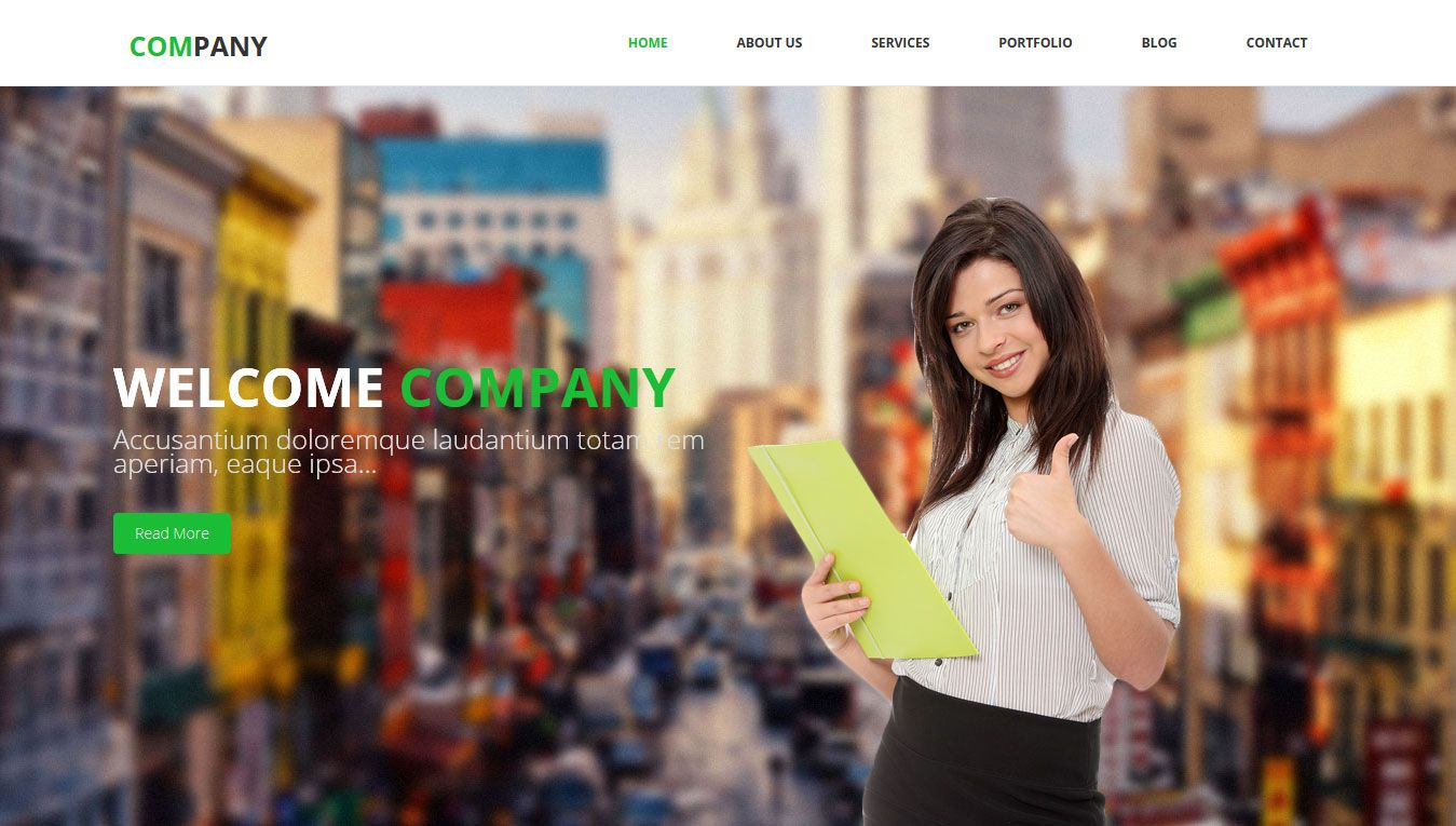 Company Free Html Bootstrap Template W3lessons Pinterest