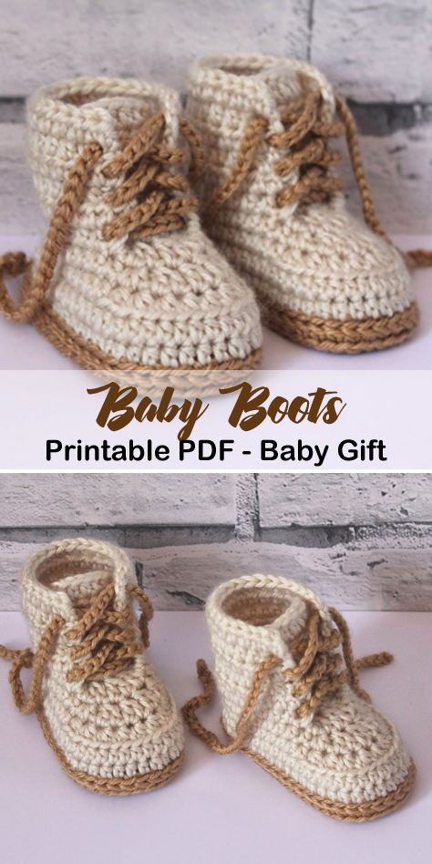 Photo of Make a cute pair of baby boots. baby boots crochet patterns – baby shoes crochet…