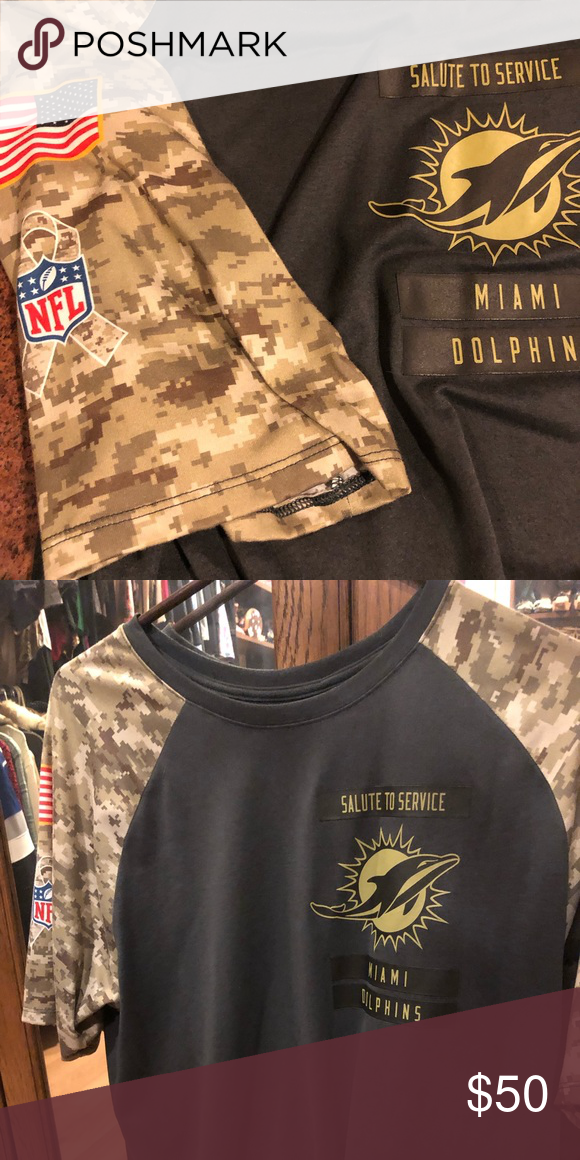 miami dolphins salute to service t shirt