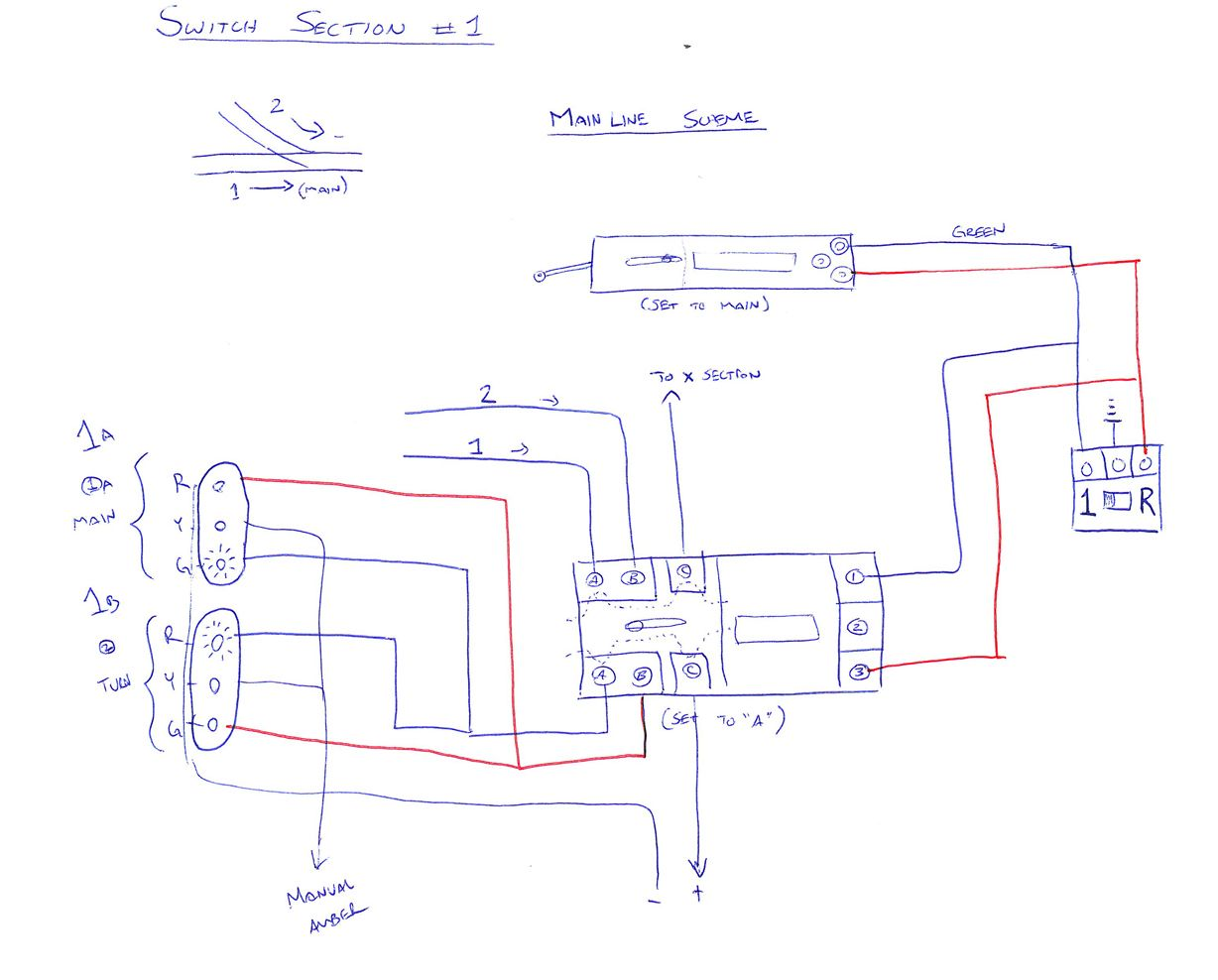 sketch of wiring diagram for trackside signals train pinterest rh pinterest com