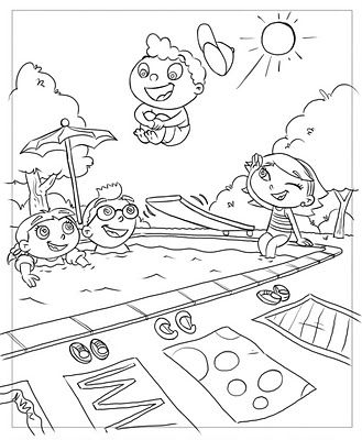 little einsteins coloring book drawings frank summers