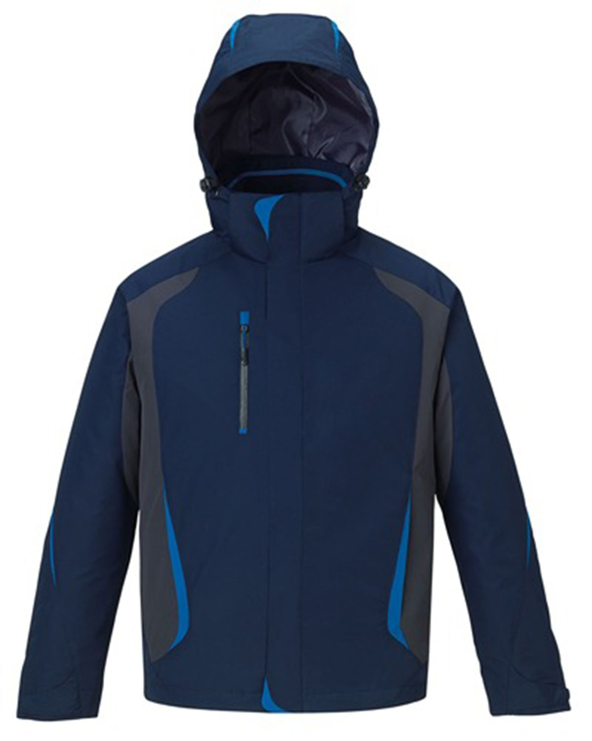 north end mens height 3 in 1 full zip hooded jacket with on men s insulated coveralls cheap id=51738