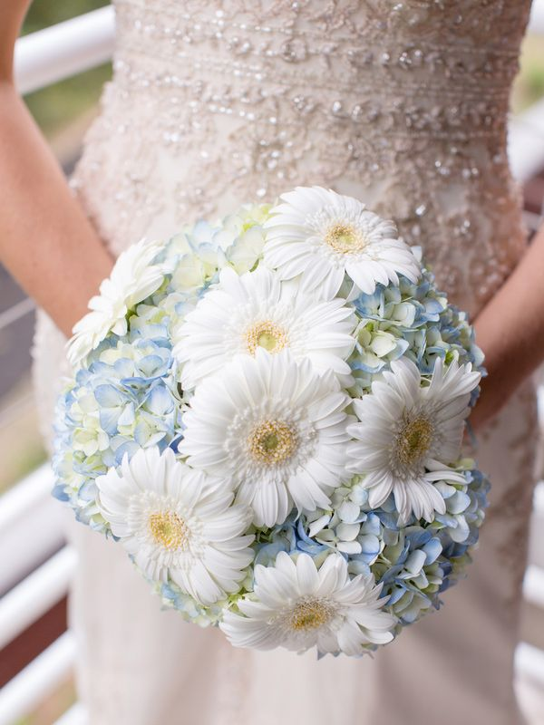 Gerber Daisy Hydrangea Wedding Bouquet Designcorral