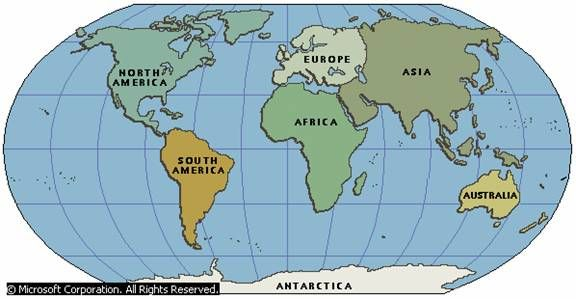 The Seven Continents Listed In Order Of Size From Largest To - What is the largest continent