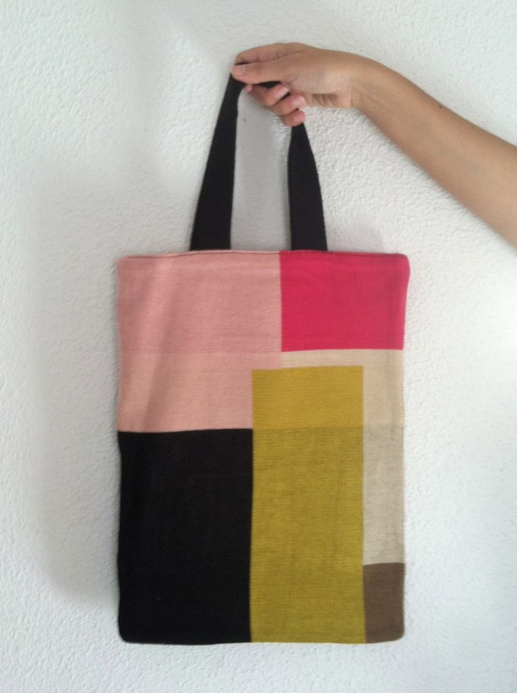 Color Block tote by Hansel from Basel