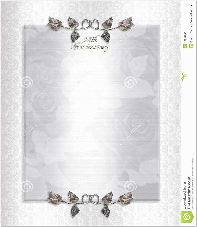 4Th Wedding Anniversary Invitations Templates inside in 4
