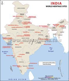 Map of world heritage sites in india bulletin board pinterest map of world heritage sites in india gumiabroncs Choice Image
