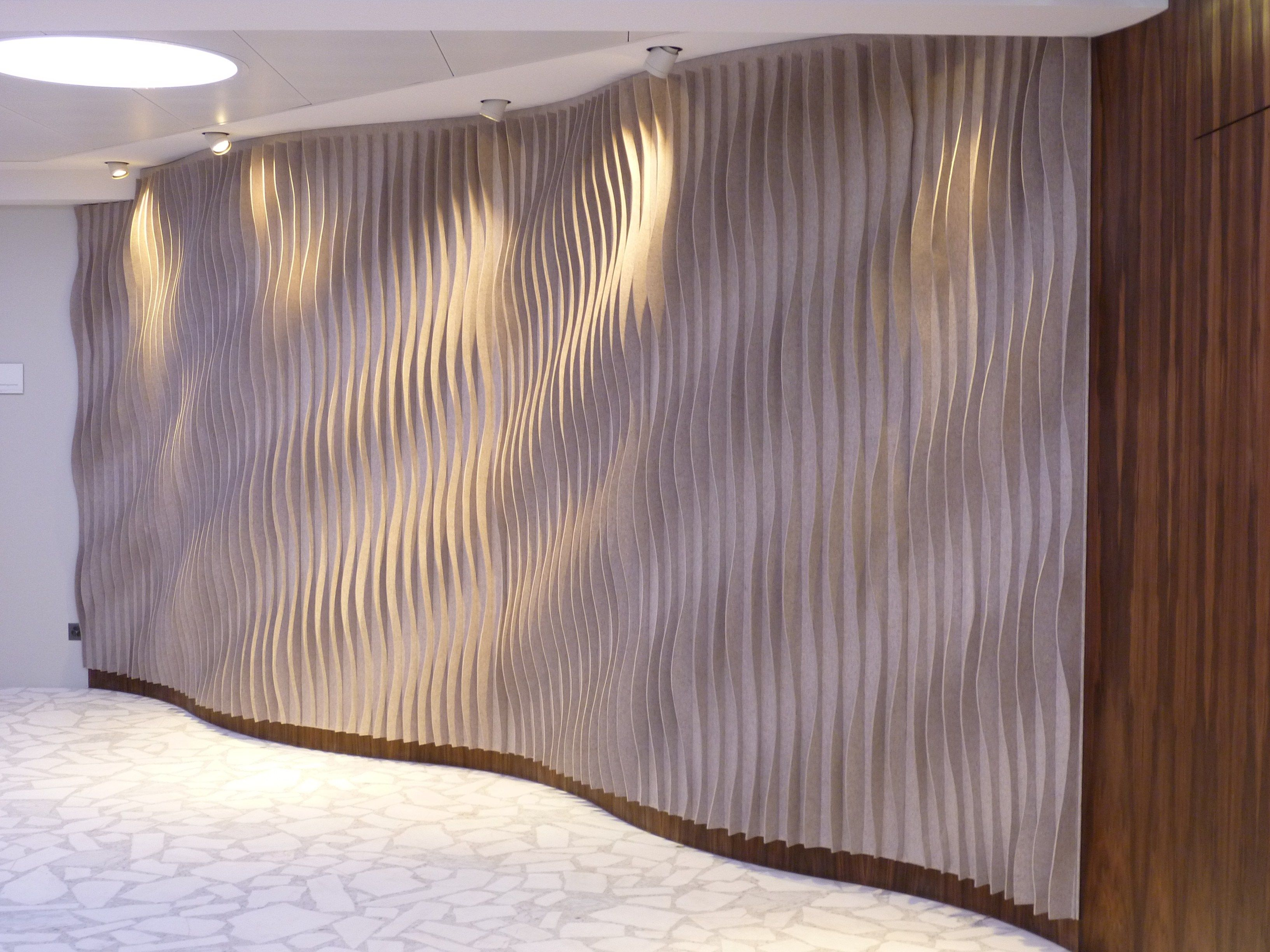 Laine curved decorative acoustic panel yoga reception pinterest acoustic panels and curves - Decorative acoustic wall panels ...