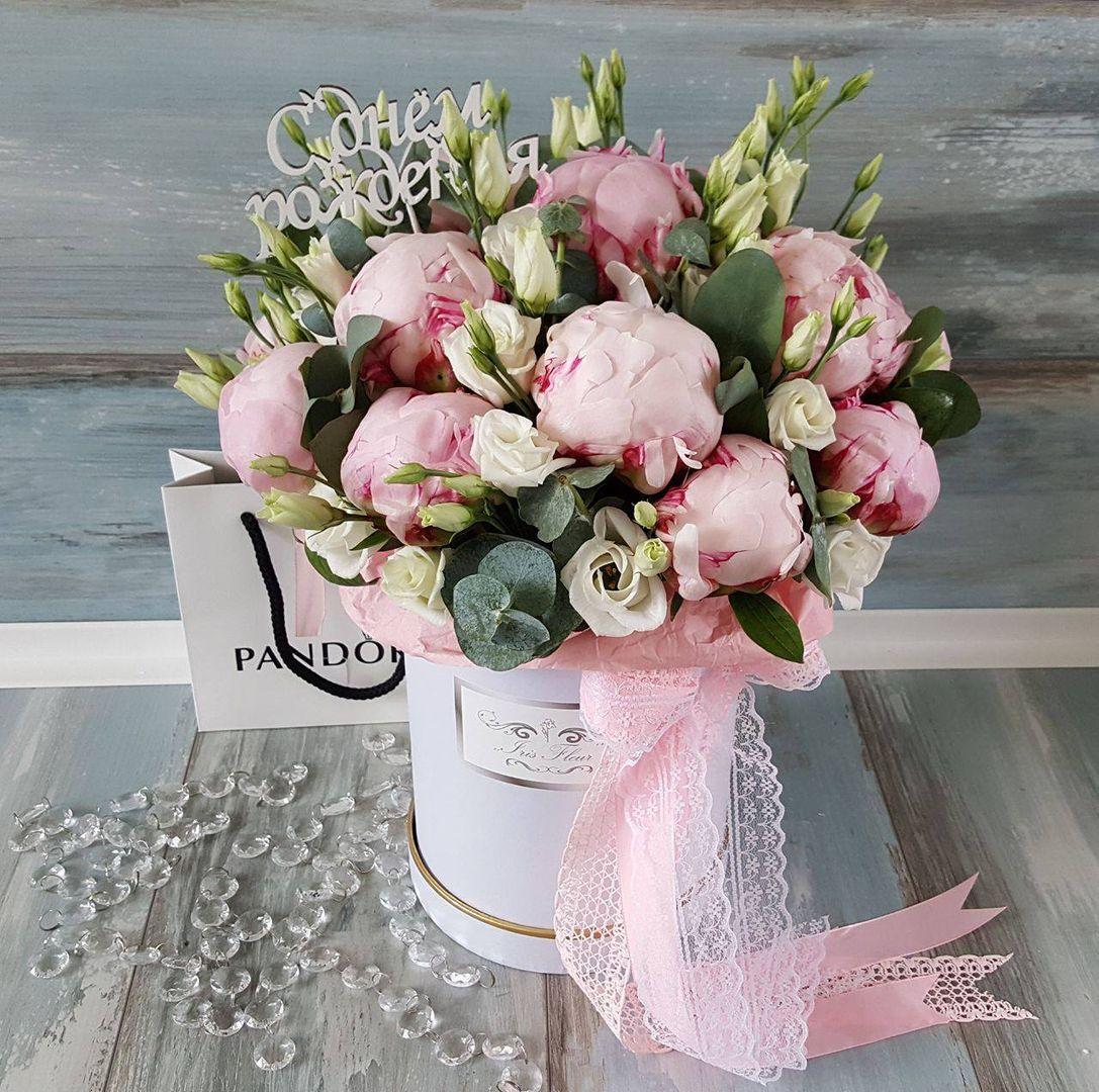 Поздравления цветы в коробке