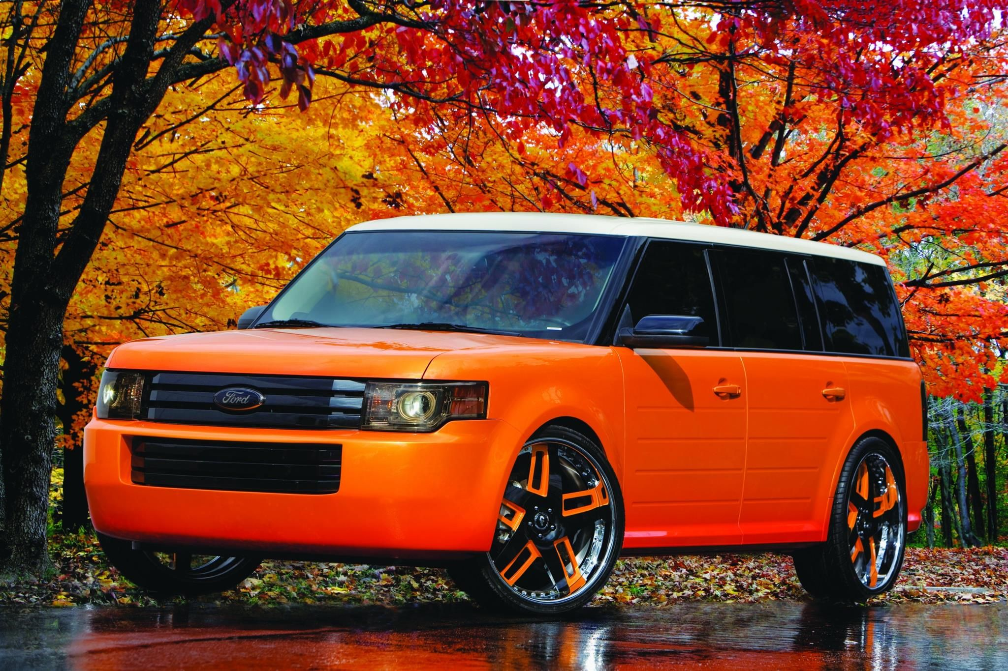 Orange Spice 2009 Ford Flex Galpin Auto Sports Van Nuys Ca Us