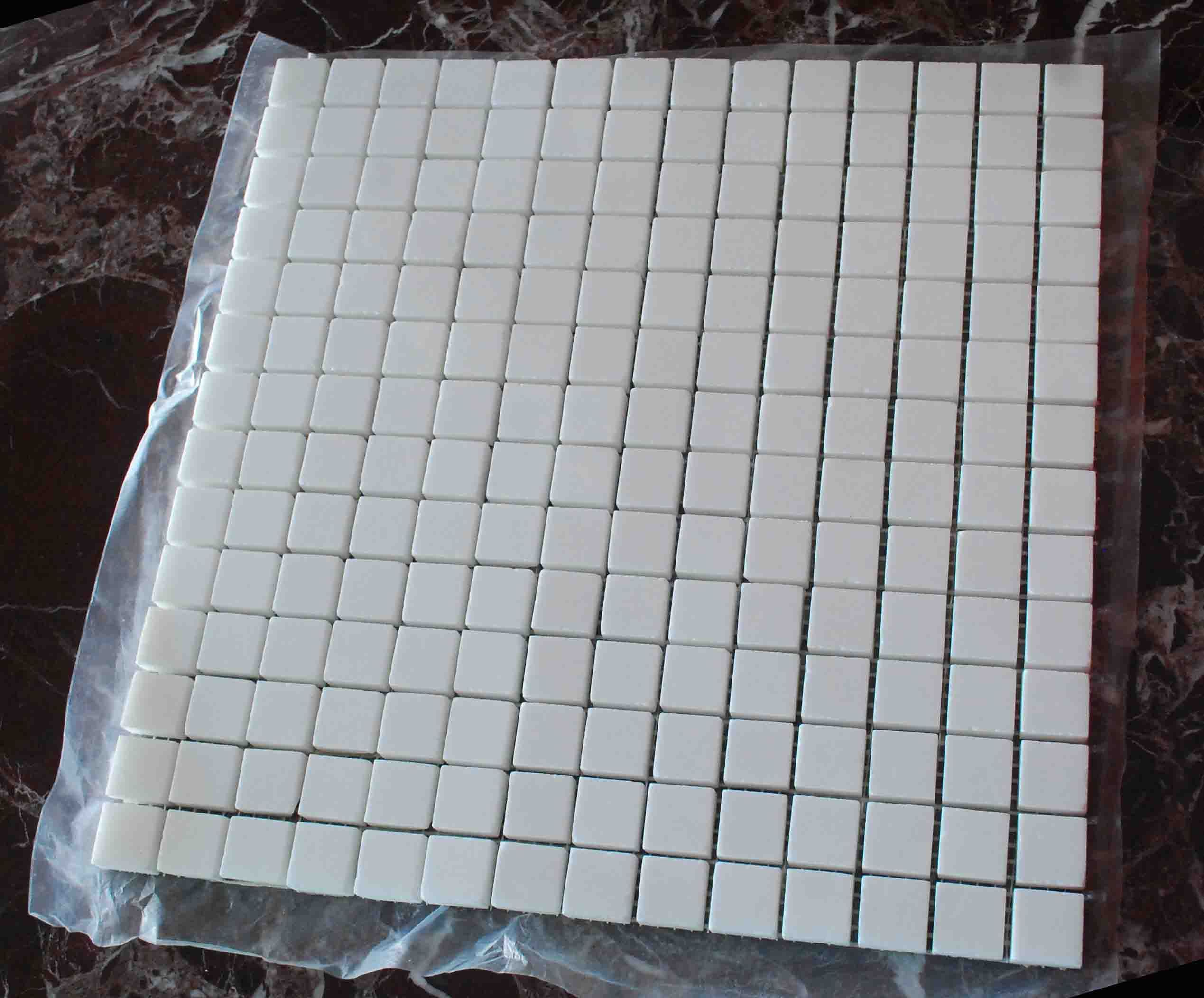 Super Thassos Glass Crystallized Glass Mosaic 2x2cm 12x12 Sheet Mosaic Glass Thassos Glass