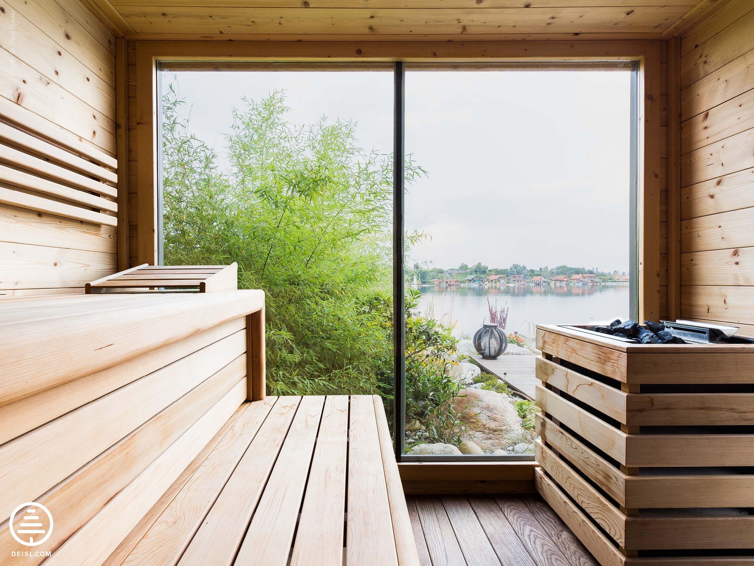 freistehende aussensauna aus fichte von deisl ged mpft und geb rstet sauna. Black Bedroom Furniture Sets. Home Design Ideas