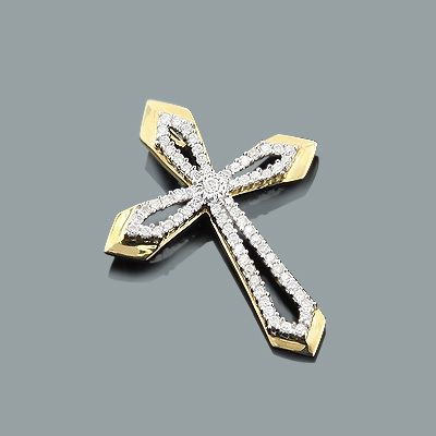 Designer diamond cross pendant 028ct 10k gold a girls best designer diamond cross pendant 028ct 10k gold audiocablefo