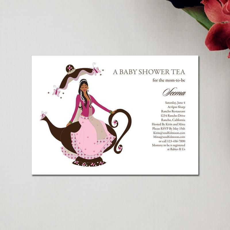 Indian baby shower invitations baby tea by soulful moon | Places to ...