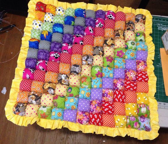 Double Rainbow Biscuit Quilt Bubble Quilt Play Mat by MichellesEye ... : quilt play - Adamdwight.com