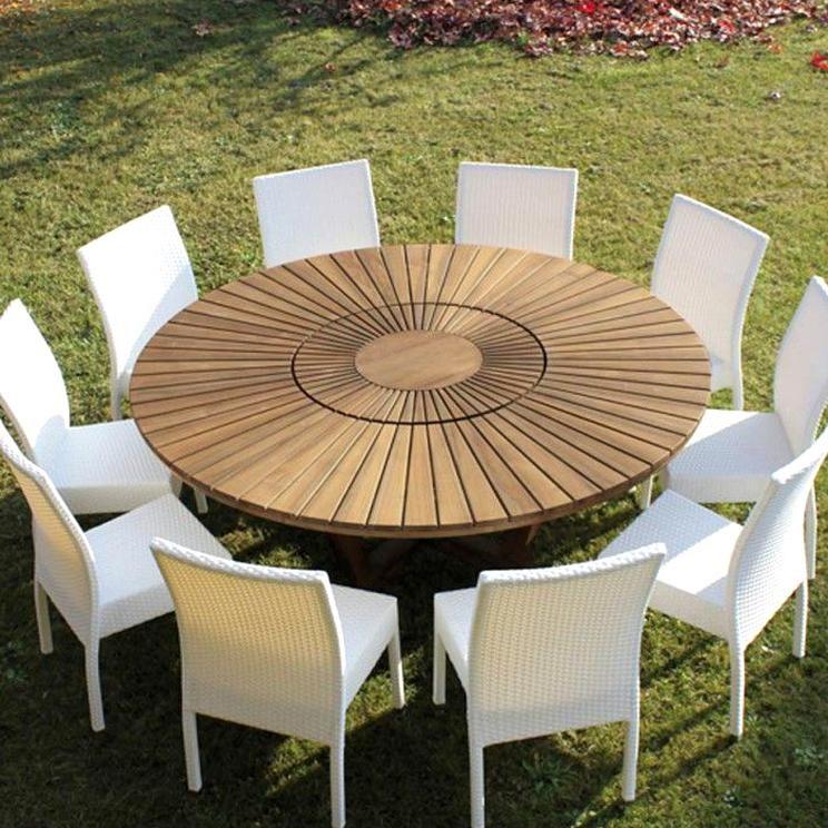 Indooroutdoor Teak Round Dining Table Real Table Modern Design In 2020 Round Outdoor Dining Table Round Outdoor Table Teak Patio Table