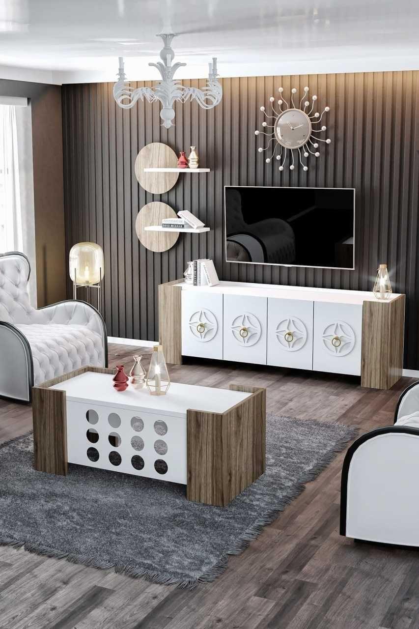 Modatte Duru Salon Takimi Tv Unitesi Ve Orta Sehpa 2020 Oturma Odasi Takimlari Kahve Masasi Mobilya