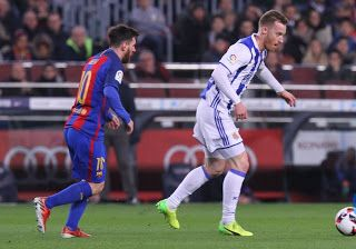 Blog Esportivo do Suíço: Barça vence Real Sociedad em jogo de 7 gols e avança à semi da Copa do Rei