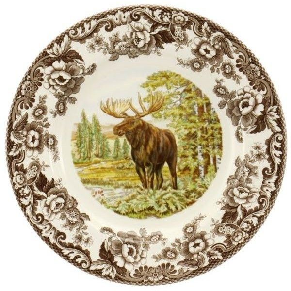 Spode Woodland Moose Dinner Plate ($37) ❤ liked on Polyvore ...