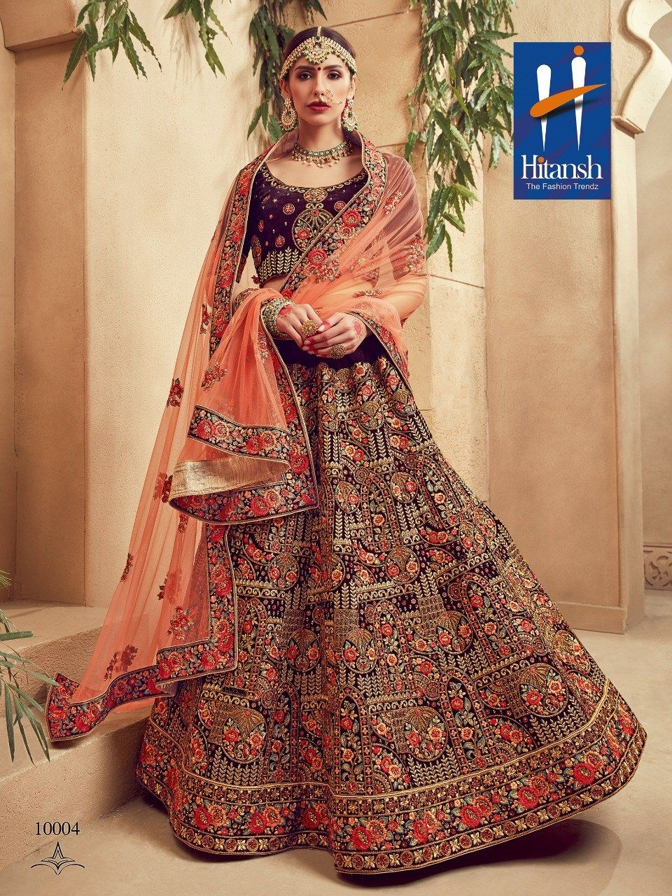 Hitansh fashion the royal bride designer wedding lehenga choli