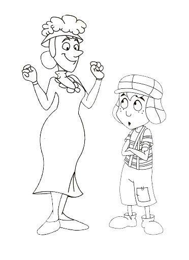 dibujos para pintar del chavo del 8-animado