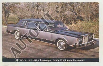 1980 Lincoln Continental Town Car Model 8053 Limousine By Aha