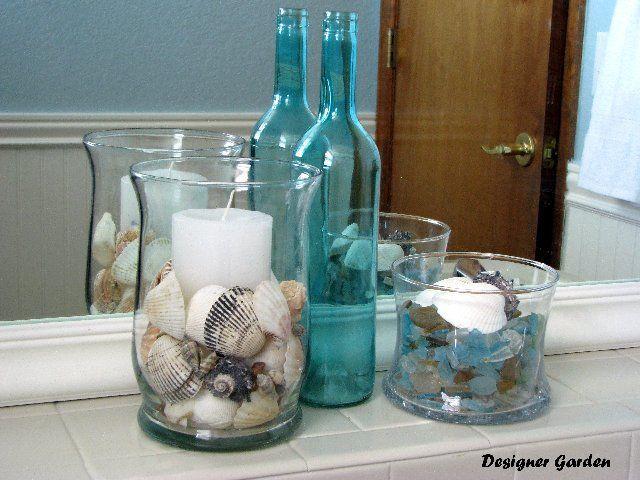 Great idea for my beach-themed bathroom!  #homedecor #homeideas