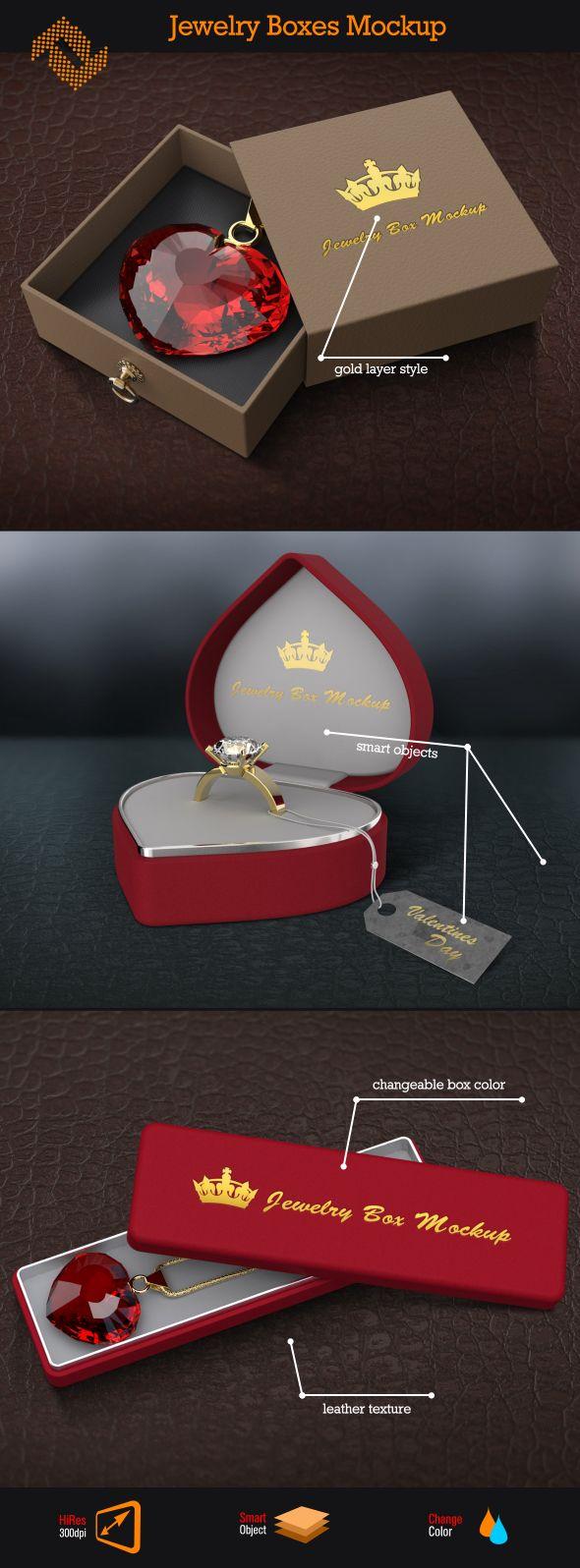 Download Jewelry Box Mockup Http Graphicriver Net Item Jewelry Box Logo Mockup 10068010 Ref Fusinhorn Werbemittel Produkt Visualisierung