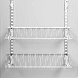 Rubbermaid Homefree Series 4 Ft Adjustable Mount Wire Shelving Kits